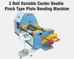 3 Roll Variable Center Double Pinch Type Plate Bending Machine